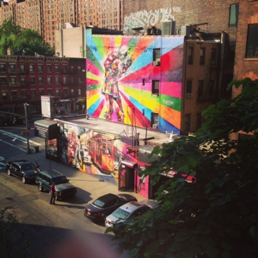 Famous art dots the High Line