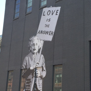 Love the message of The High Line art.