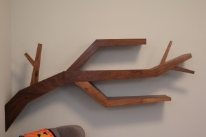 custom tree branch modern book shelf