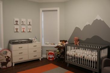 monntain woodland animal gender neutral nursery