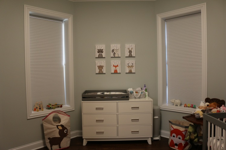 woodland animal prints gender neutral nursery