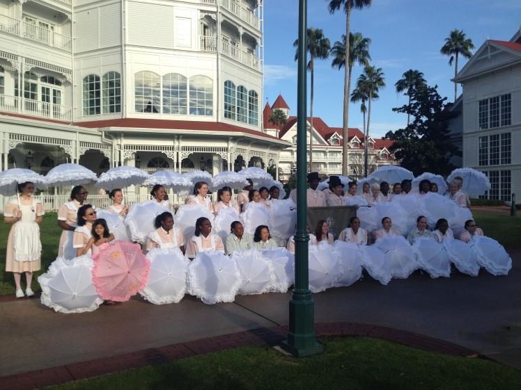 Grand Floridian's parasol parade