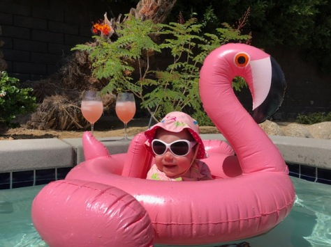 Always bring your own flamingo floaty!